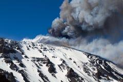 Volcano etna eruption Royalty Free Stock Photography