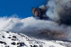 Volcano etna eruption Royalty Free Stock Photo