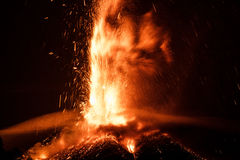 Volcano Etna Eruption Royalty Free Stock Photography