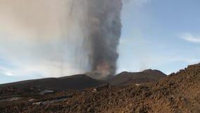 Volcano Etna eruption stock video