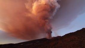 Volcano Etna eruption stock video footage