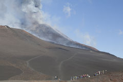 Volcano Etna eruption Stock Images