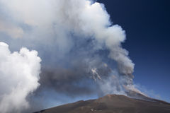 Volcano Etna eruption Stock Photography