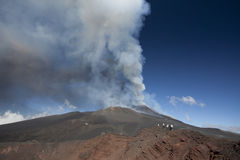 Volcano Etna eruption Stock Photo