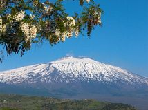 The volcano Etna landscape Stock Photography