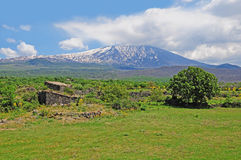 Volcano Etna. Sicily. Italy. Royalty Free Stock Images
