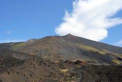Volcano Etna in Sicily, Italy. Beautiful landscape. Smoking Etna. Sicily, Italy Stock Photography