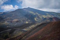 Volcano Etna sikt Arkivbilder