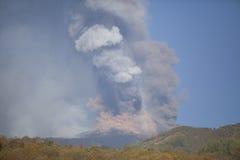 Volcano Etna-uitbarsting Stock Fotografie