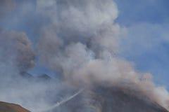 Volcano Etna-uitbarsting Royalty-vrije Stock Foto's