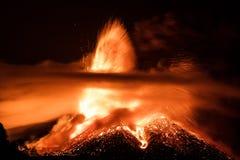 Volcano Etna-uitbarsting Royalty-vrije Stock Afbeeldingen