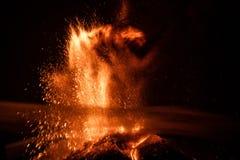 Volcano Etna-uitbarsting Stock Afbeeldingen