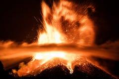 Volcano Etna-uitbarsting Stock Afbeelding