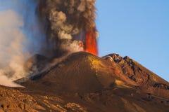 Volcano Etna utbrott Royaltyfria Bilder