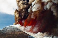 Volcano Etna utbrott Royaltyfri Bild