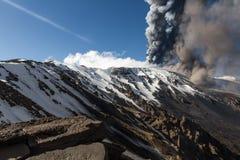 Volcano Etna utbrott fotografering för bildbyråer