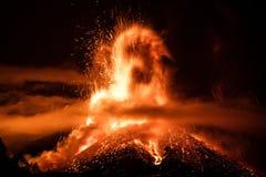 Volcano Etna utbrott Royaltyfri Foto