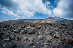 Volcano Etna. View in Catania Sicily Royalty Free Stock Photography