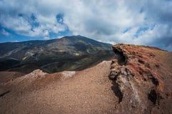 Volcano Etna. View in Catania Sicily Royalty Free Stock Photos