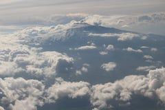 Volcano etna. View of volcano etna from plane Stock Photos