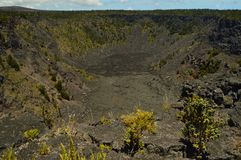 Volcano Extinguished With Volcanic Rocks Formations. Big Island, Hawai, USA. EEUU royalty free stock photos