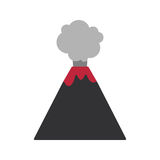 Volcano  flat ico. N, Flat design of volcano eruption isolated on the white background, cute  illustration Stock Images