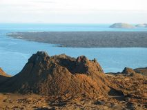 Volcano Formation. A rock formation from volcanic activity on the Galapagos Inlands royalty free stock image