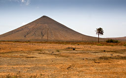 Volcano  in Fuerteventura Royalty Free Stock Photography