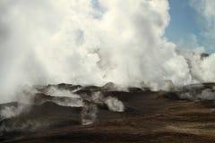 Volcano fumarolas, Bolivia. Royalty Free Stock Image