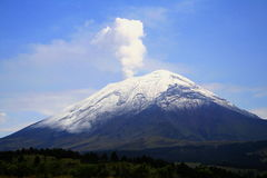 Volcano with fumarole Royalty Free Stock Image