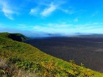 Volcano. Galapagos islands isabela crater Royalty Free Stock Image
