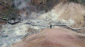 Volcano Geothermal Volcanic Activity stock videobeelden