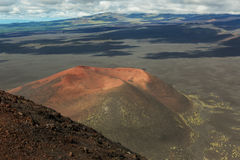 Volcano Gorshkov - First cinder cone of North Breakthrough Great Tolbachik Fissure Eruption 1975 Royalty Free Stock Photos