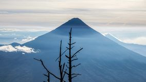 Volcano in Guatemala. This is as picture perfect as a volcano can get stock image