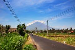 Volcano Gunung Agung dans Bali Photos stock
