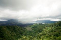 Volcano Gunung batur Stock Images