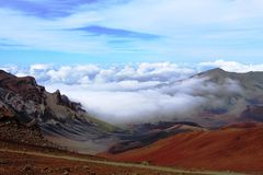 Volcano Haleakala auf Maui lizenzfreies stockbild