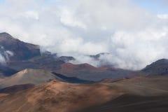 Volcano Haleakala National Park Maui Royaltyfri Foto