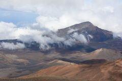 Volcano Haleakala National Park Maui Royaltyfri Bild