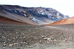 Volcano Haleakala på Maui Arkivbild