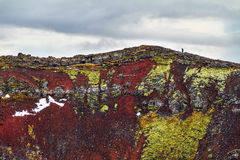 Volcano hike Iceland Royalty Free Stock Image