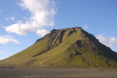 Volcano in Iceland. Royalty Free Stock Photo