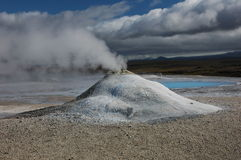 The Volcano in Iceland Stock Image