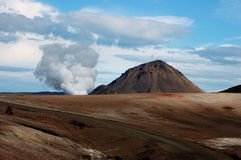The Volcano in Iceland Royalty Free Stock Photography