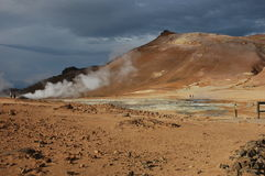 The Volcano in Iceland Royalty Free Stock Photos