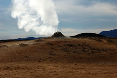 The Volcano in Iceland Stock Images