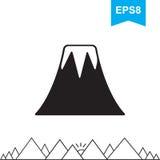 Volcano Icon Isolated Image libre de droits