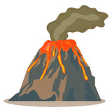 Volcano. Icon, lava, mountain Flat design vector illustration vector vector illustration