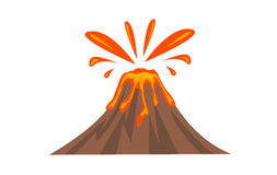 Volcano Icon vector illsutation Royalty Free Stock Image