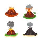 Volcano  illustration. Stock Image